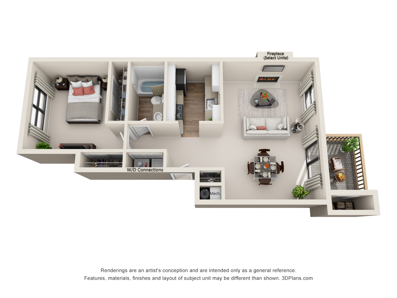 Modernized Floor Plans Saint Peters MO Ridgewood Apartments
